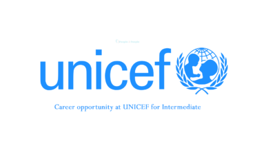 Career opportunity at UNICEF